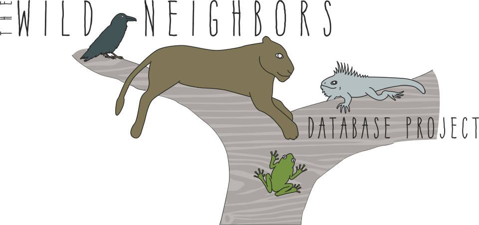 Logo for The Wild Neighbors Database Project