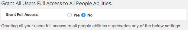 Grant All Users Full Access to All People Abilities.