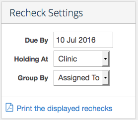 Updated printing the rechek reports